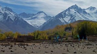 Mountains in Bamiyan Province