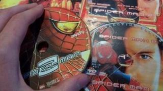 Generic image of a pirate Spider-Man 2 DVD