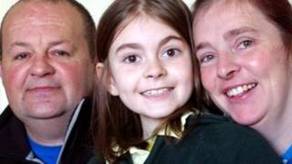Heart transplant patients Dan Collingswood, daughter Maia, and Maia's mother Hannah Carter