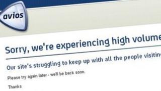 Screen grab of the Avios website