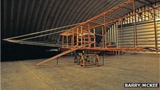 The replica Waterbird under construction