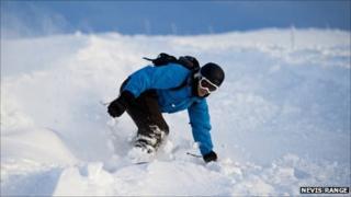 Snowboarder. Pic: Courtesy of Nevis Range