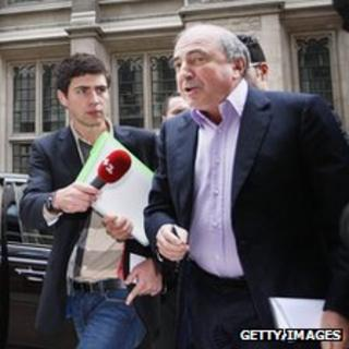 Boris Berezovsky arriving at court, 4 Oct 11