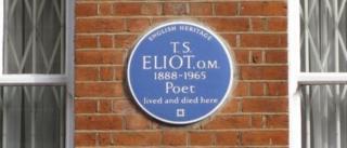 Blue plaque on show
