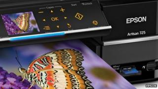 A shot of an Epson printer