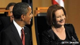 American President Barack Obama and Australian Prime Minister Julia Gillard