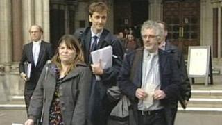 Campaigners leaving the High Court in London