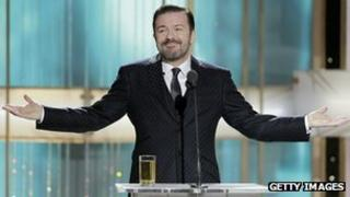 Ricky Gervais hosting 2011 Golden Globes