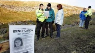 Police interviews on the Pennine Way in the Yorkshire Dales, 2004. Picture: North Yorkshire Police