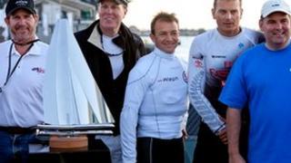 Richard Vasey's stainless steel racing boat