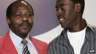 Paul Rusesabagina and actor Don Cheadle photographed in 2005