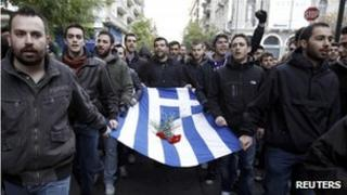 Greek students at the annual rally