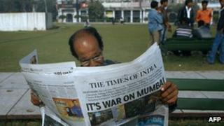 Man reading Times of India