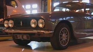 Bristol car in workshop