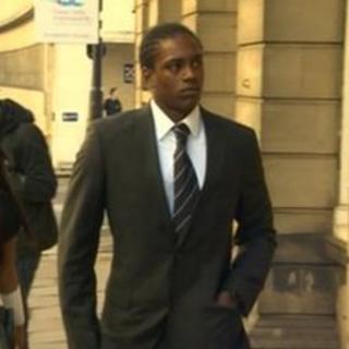 Nile Ranger arriving at court