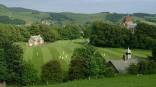 The school's top pitch and chapel