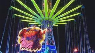 The centrepiece this year is a 60m-tall tower with swings