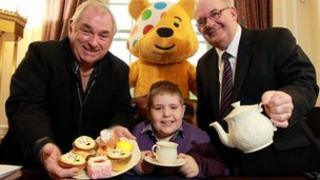 David Eagleson with Hugo Duncan, William Hay and Pudsey