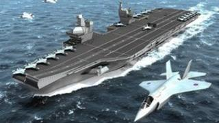 Impression of one of the new Queen Elizabeth class aircraft carriers