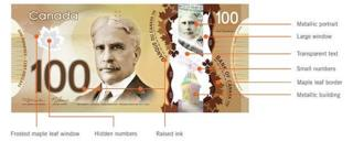 Front of Canadian polymer bill
