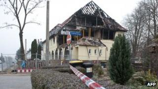 Beate Zschaepe's burned-out flat in Zwickau
