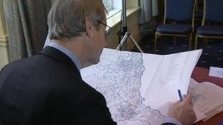 Man studying map