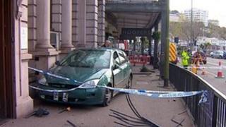 Car crash in Torquay