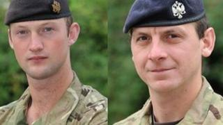 Lt David Boyce and L/Cpl Richard Scanlon