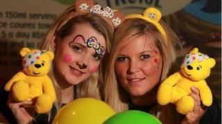 Melissa Elliott and Nicky Burns celebrate Children in Need in Northern Ireland