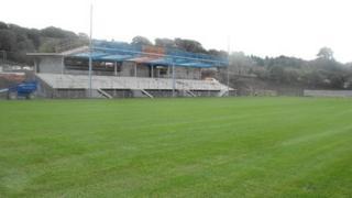 Bangor City FC's new stadium at Nantporth