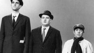 From left: John Cleese, Ronnie Barker and Ronnie Corbett