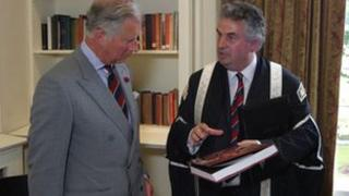 Prince of Wales and Prof Medwin Hughes