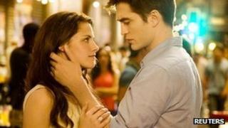 Kristen Stewart and Robert Pattinson in The Twilight Saga: Breaking Dawn - Part 1