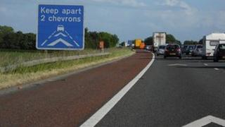 Chevrons on the M6