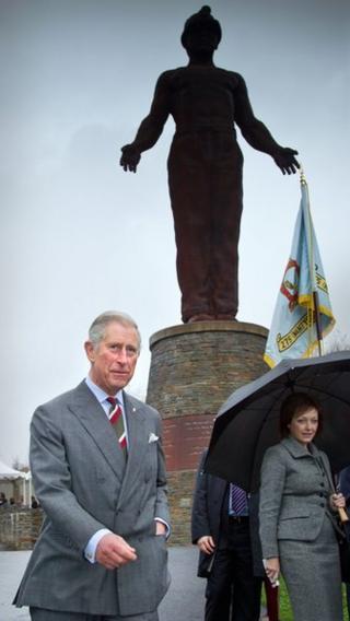 Prince Charles at the Guardian memorial