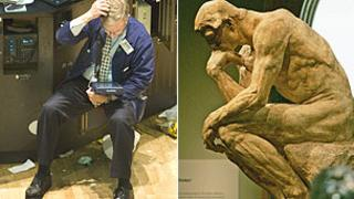 Stock market and Rodin's Thinker