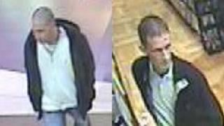 Poppy theft CCTV images of two men
