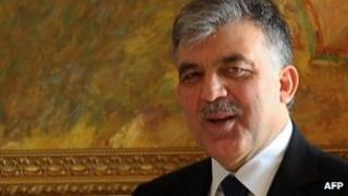 Turkish President Abdullah Gul (image from 1 Nov 2011)