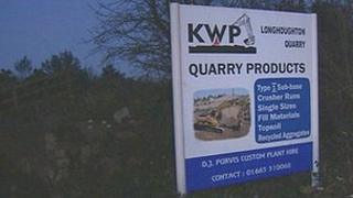 Longhoughton Quarry sign
