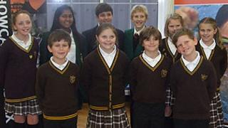 The 10 pupils from West Leigh Junior School