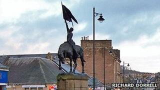 Hawick horse statue