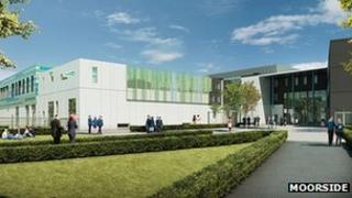 Artist impression of the new Moorside High School