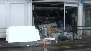 Scene of the cash machine theft in Newington