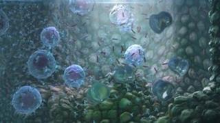 CGI image of immune system