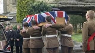 Funeral of Pte Matthew Haseldin
