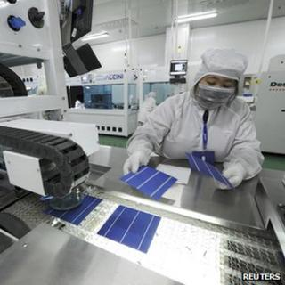 Chinese solar manufacturing plant