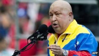 Hugo Chavez in photo from 21 November 2011