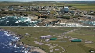 Dounreay today and artist's impression of future state