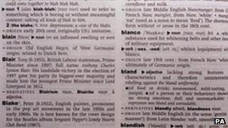 Page from the Oxford English Dictionary