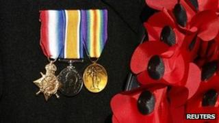 Medals and poppies